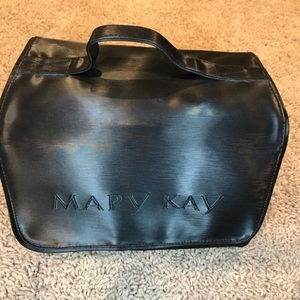 Mary Kay Black Travel  Makeup Jewelry Roll-Up Bag